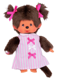 MONCHHICHI - Meisje pink ribbon dress
