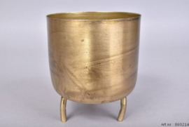 Pot Dobra - Oud goud Metaal - 14cm