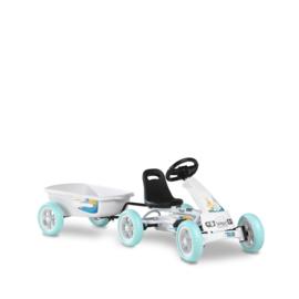 EXIT - Foxy Club GoKart - met aanhangwagen - wit (2-5j)