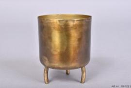 Pot Dobra - Oud goud Metaal - 8cm