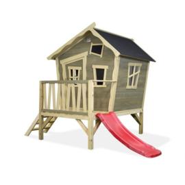 EXIT -  Crooky 300 houten speelhuis - grijsbeige