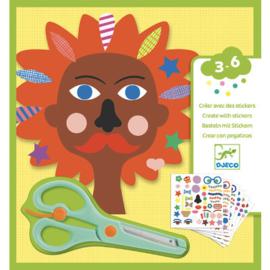 Djeco  - Creëren met stickers - Hairdresser