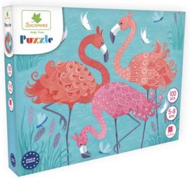 Au Sycomore - Puzzel - Flamingo's