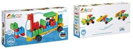 Poly M - Zoo Keeper en Cars - Bouwblokken 40-delig