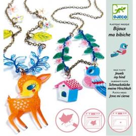 Djeco krimpie dinkie - sieraden maken -  het hertje en de vogel