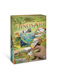 DinosArt - Zand en Glitter art