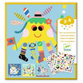 Djeco - Creëren met stickers - Zeedieren