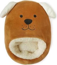 Balvi - Voetenwarmer Hond Polyester 37 X 30 Cm Bruin/beige