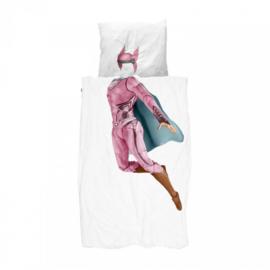 Snurk Dekbedovertrek - Superhero roze