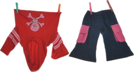 Living Puppets kledingset roze