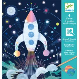 Djeco - Kraskaarten - Cosmic Mission