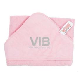 Badcape VIB - Roze + Zilver