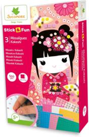 Au Sycomore - Stick'n Fun - Mozaïek  Kokeshi