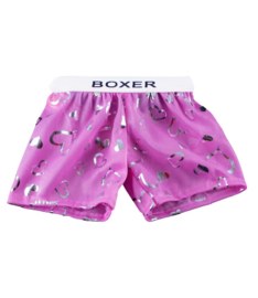 PINK SATIN HEART BOXERS