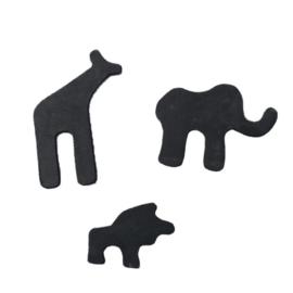 EXIT -  safari krijtborden voor houten speelhuis (set van 3) - zwart