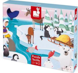 Janod - Voelpuzzel - Het leven op de ijsschots - 20 Stuks