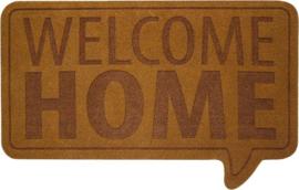 Deurmat - Welcome Home - Bruin - Kokos mat