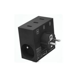 Usebepower - Hide 5 in 1 usb lader & power hub - zwart