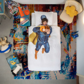 Snurk Dekbedovertrek  - Superhero Blauw