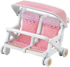 Sylvanian families - Dubbele Kinderwagen