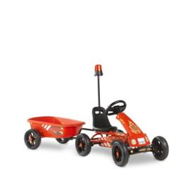 EXIT - Foxy Fire GoKart met aanhangwagen - rood (2-5j)