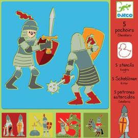 Djeco - Sjablonen - ridders