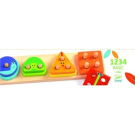 Djeco - Houten Puzzel 1234 Basic