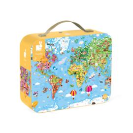 JANOD - Puzzel - Wereldkaart
