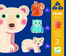 Djeco - Primo puzzel 'in het bos'