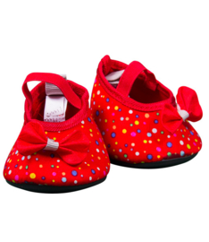 Red/Multi-Color Dot High Heels
