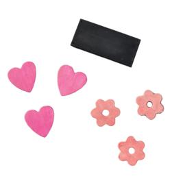 EXIT - decoratieset voor houten speelhuis (set van 7) - roze