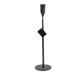 Kandelaar - Zwart H35cm