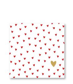 Servetten - Little Hearts - 33x33cm
