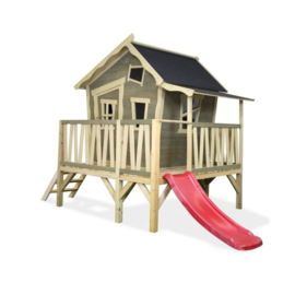 EXIT -  Crooky 350 houten speelhuis - grijsbeige