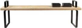 Borrelplank hout met handvaten 57x16cm