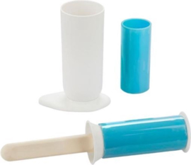 Balvi - Kledingroller 5,5 X 24 Cm Siliconen Wit/blauw