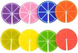 Balvi - Glasmarker Fruit Party - 8 stuks