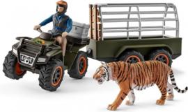 Schleich - Quad met aanhangwagen en ranger