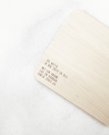 Houten serveerplankje - Zeg weet je vriend