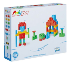 Poly M - Creative Builder Kit - Bouwblokken 80-delig