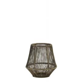 Theelicht Vitu antique brons - 12 cm