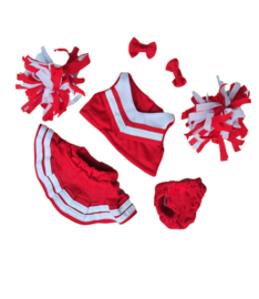 RED/WHITE CHEERLEADER