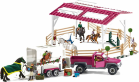 Schleich - Ruiterschool, Pick-Up en Trailer
