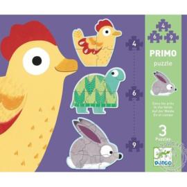 Djeco - Primo puzzels in de wei