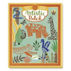 Djeco - Artistic patch velvet - Wilde dieren