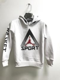 Hoodie - Sport Wit