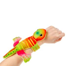 Fidget toy -  Klaparmband Pluche Hagedis