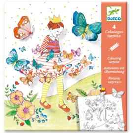 Djeco - Lady butterfly - kleurplaat