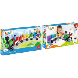 Poly M - Rainbow Counting Train - Bouwblokken 63-delig