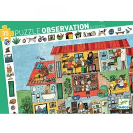 Djeco - Observatie puzzel Het Huis